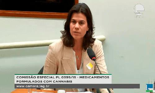 CEO da Dr. Cannabis, Viviane Sedola, na Audiência Pública na Câmara dos Deputados